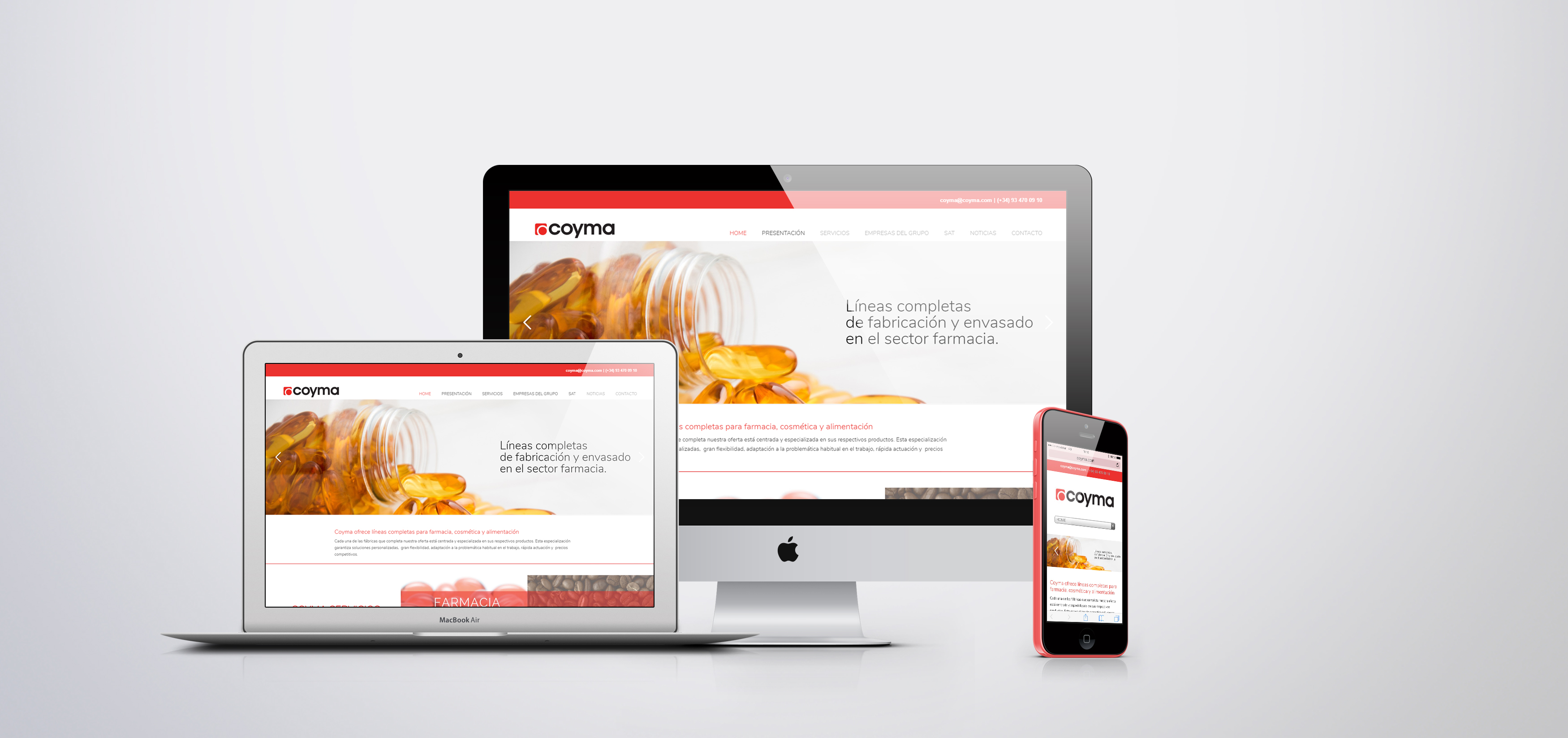 coyma, nueva página web, página web, responsive, seo, sem, lineas completas envasado alimentacion, lineas completas envasado farmacia, lineas completas envasado cosmetica